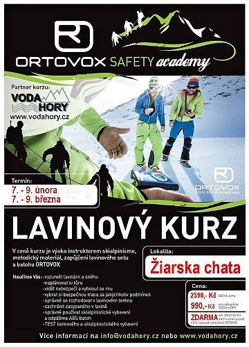 Pozvánka na lavinové kurzy pořádané Vodahory.cz