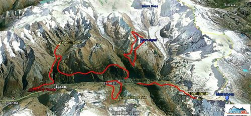 Skica túr v okolí Zermattu