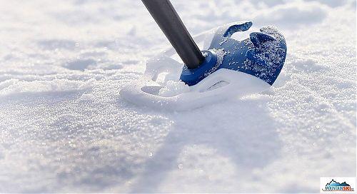 Měkká část Lift Basket v praxi - velmi ohebná a snadno přizpůsobitelná aktuální konzistenci sněhu