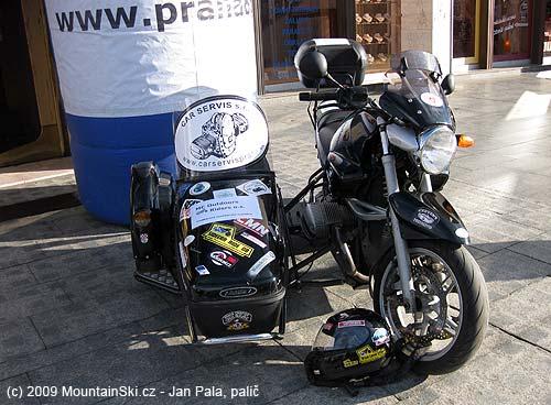 SThis motocycle was riding through Indian Himalayas