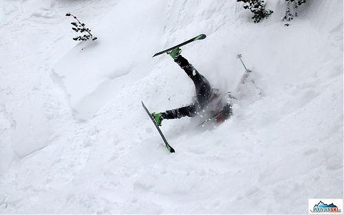 Rotace lyžaře je už téměř v závěru