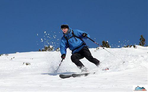 Od Martina létal sníh na všechny strany