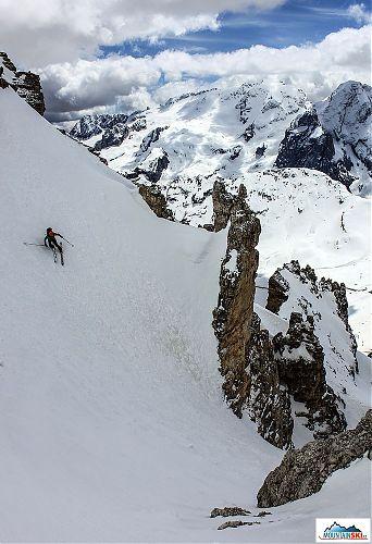 Dolomiti sú čarovné a vysoko návykové. S knižkou od Francesca Tremoladu v  ruksaku (Freeride in Dolomiti) mali sme ... 6a7f1b1b935