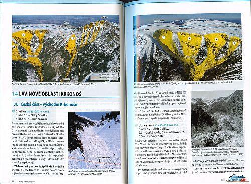 REPRO: (c) www.krnap.cz Začátek podrobnéhoh přehledu lavinových katastrů - oblast Sněžky