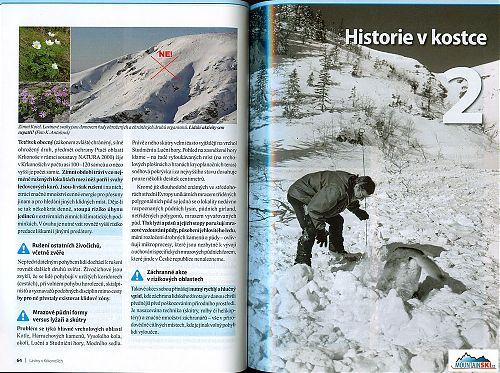 REPRO: (c) www.krnap.cz Kotel v Krkonoších - jedna výstupová stopa a několik sjezdových stop na skialpech