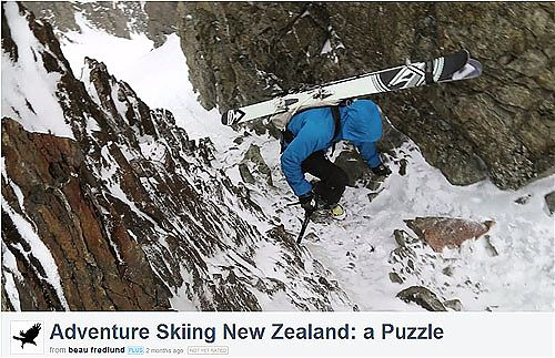 Adventure Skiin New Zealand: a Puzzle