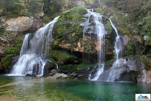 Vodopád Virje v celé své kráse