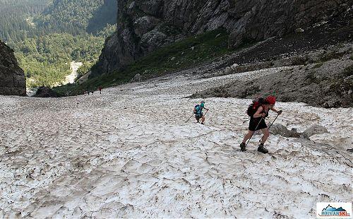 Výše už byly jen zbytky sněhových lavin