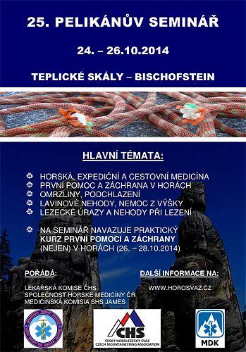 Pozvánka: 25. Pelikánův seminář v Teplických skalách 24.-26. 10. 2014