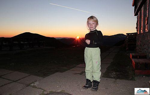 Západ slunce od Chaty M.R. Štefánika
