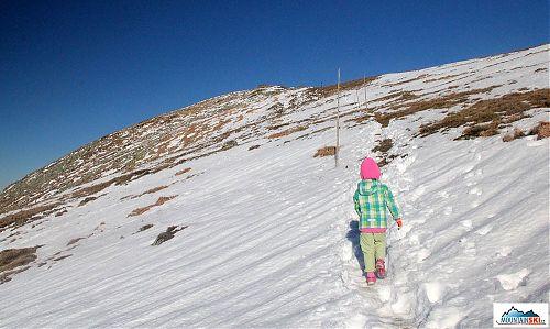 Ráno 28. října při sněhovém výstupu na Ďumbier