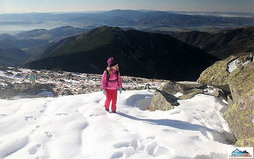 Pár kroků pod vrcholem Ďumbieru