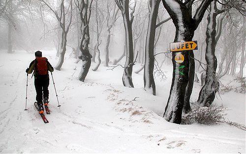 V některých horských oblastech České republiky jsou už dnes vyznačeny skialpinistické trasy