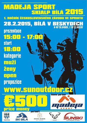 Plakát 1. ročníku československého skialpinisticého sprintu Bílá
