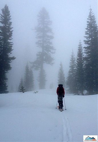 The weather was foggy, rainy and snowy during our first trip to Mt. Shasta