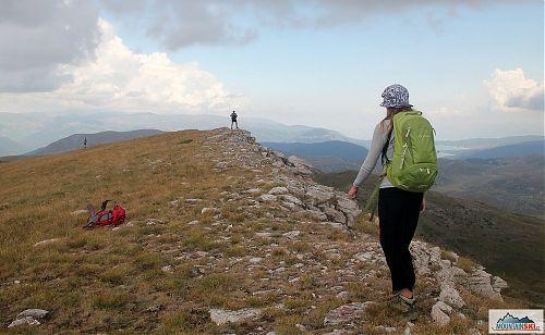 Na hřebenu Medenice s výhledem na Mavrovské jezero