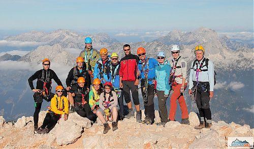 Část skupiny na Triglavu (2864 m)