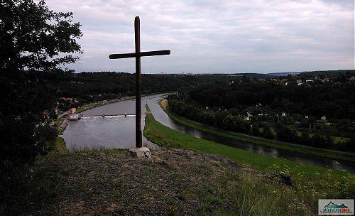 Jediné vyhlídkové místo běhu s nadhledem na Vltavu