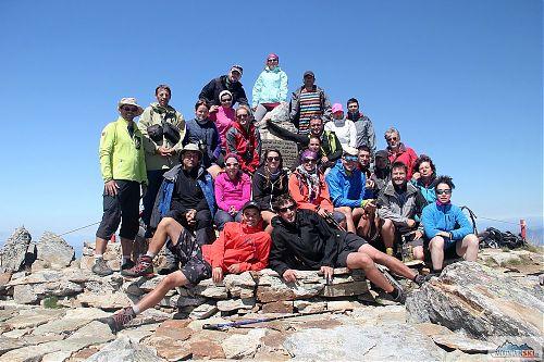 Spojená jednodenní a přechodová skupina na nejvyšším vrcholu Pelisteru