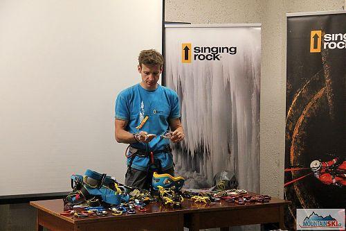 Představení aktuální nabídky jistícího a lezeckého materiálu Singing Rock a Grivel