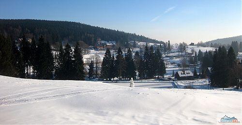 Výhledy na Bedřichov od lyžařských vleků EPV1 a EPV 2