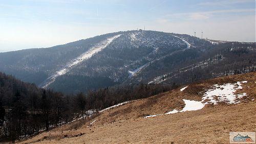 Lyžařský areál Bouřňák - sněhu dost ubylo
