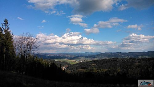 Výhled ze zelené TZ na Kateřinice