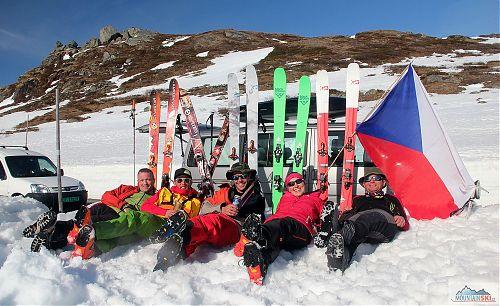 Odpočinek po parádním ledovcovém skialpovém výletu