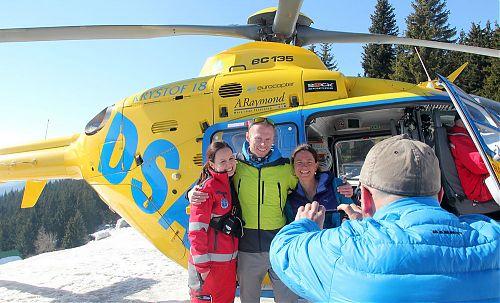 Hlavní organizátorka Kurzu horské medicíny Kristina Höschlová s dalšími lékaři během zimní části na Dvoračkách