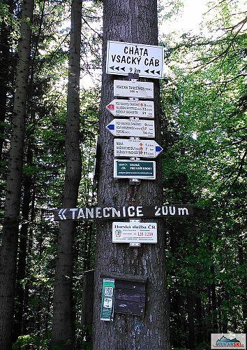 Další vrchol na hřebenovce Vsackých Beskyd - 900 metrů vysoká Vsacká Tanečnice