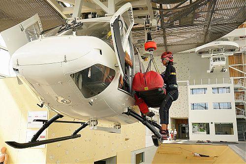 U vrtulníku s plnou zátěží, foto: Pavel Křička