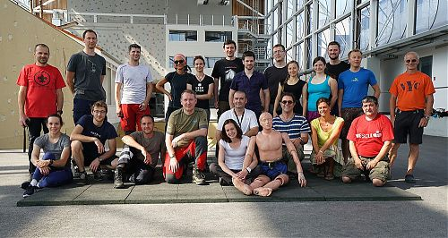 Společné foto v bavorském výcvikovém středisku v Bad Tölz, foto: Pavel Křička