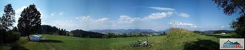 Z hřebenu u Videčských pasek - panorama Evolveo G4