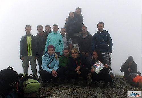 Vrcholové foto z druhého nejvyššího rumunského vrcholu Negoiu (2535 m), foto: Lenka Tobiášová