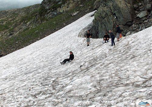 Sněhové radovánky u Iezerul Triunghiular, foto: Lenka Tobiášová