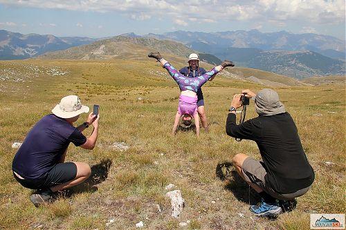 Fotografické aktivity na vrcholu Medenica (2163 m) v NP Mavrovo