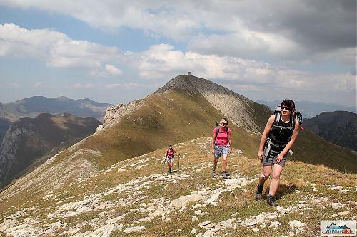 Fakultativní výlet na Turčin (2702 m) s výhledem na Titov vrv absolvovaly jenom tři účastnice