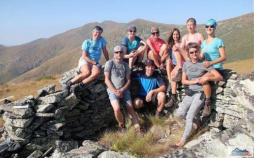 Fakultativního výstupu na vrchol Marušica se zúčastnila genderově značně nevyvážená skupina