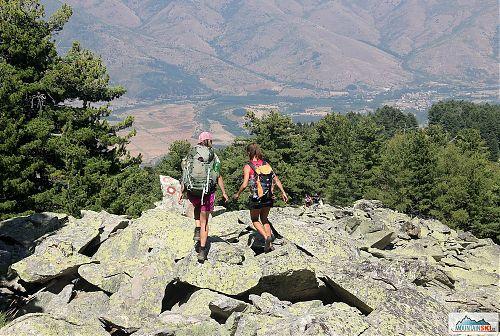 Jedno z mnoha kamenných polí na Rocky trail