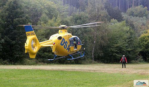 Vrtulník jde na přistání