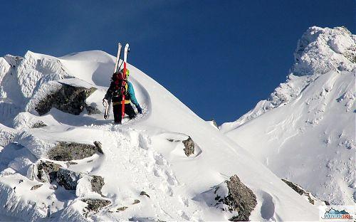 Karel Svoboda s lyžemi G3 ve Vysokých Tatrách