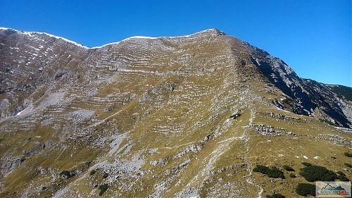 Hřebínek Seeleithen vedoucí na planinu Speikwiesse