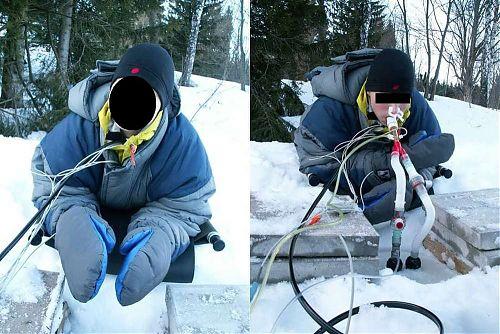 TPraktická simulace dýchání pod sněhem