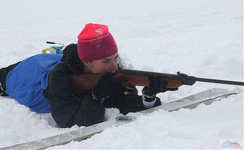 Střelba v leže, do diabolek se občas dostával sníh