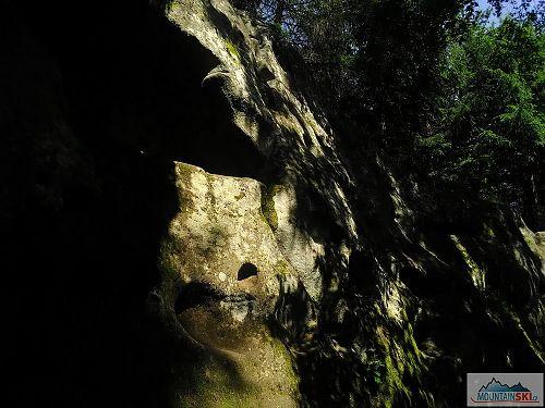 Ze skal a mechů na Horních Lačnovských skalách