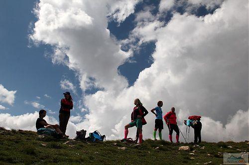 V sedle mez Turčinem (2702 m) a Titovým vrvem (2747 m)