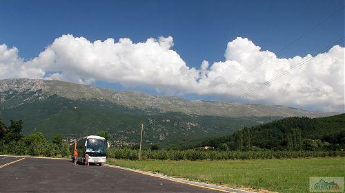 Pohoří Galičica za alpiňáckým autobusem