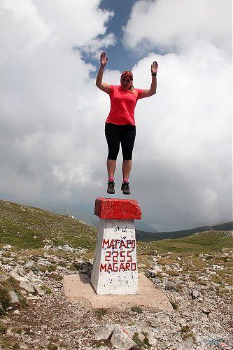 Hopsání na vrcholu Magaro