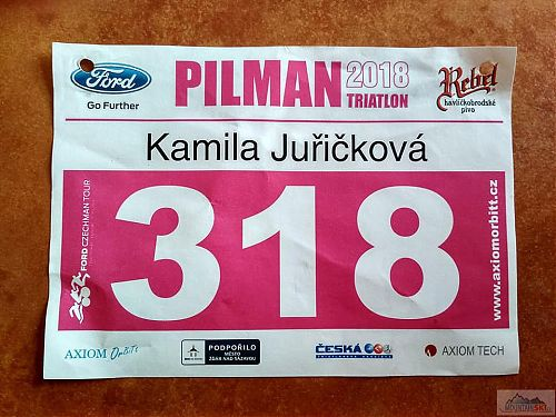 Startovní číslo na půlmaratón Pilman