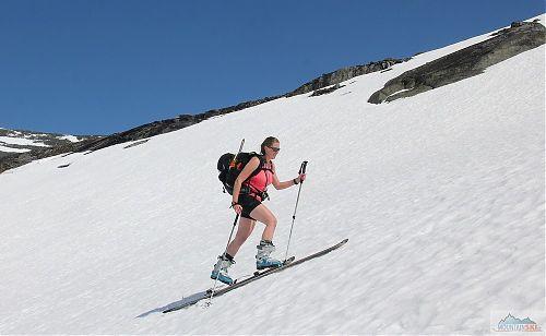 Květnový závěr skialpové sezóny v norských pohořích
